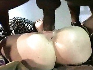Bella Marie-Wolf in sexy outfit getting fucked by a black cock
