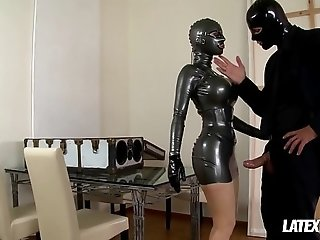 Latex Goddess Latex Lucy gets Boxed & Fucked Hard