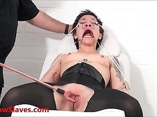 Asian slave Mei Maras medical fetish and play piercing bdsm of polynese masochis
